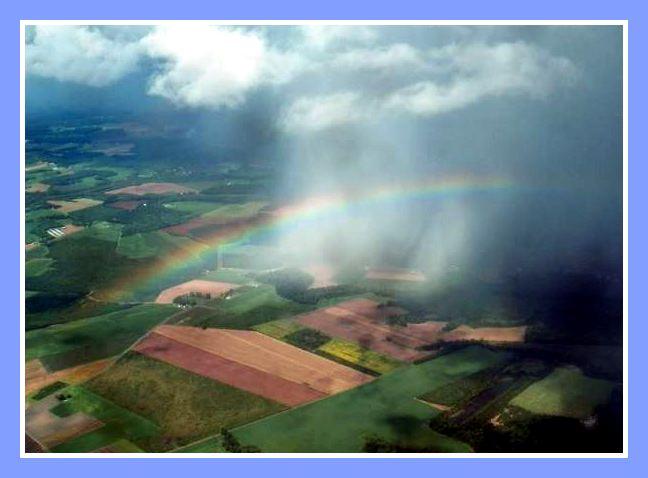 Rainbow John captured while on Angel Flight of September 19th 2016
