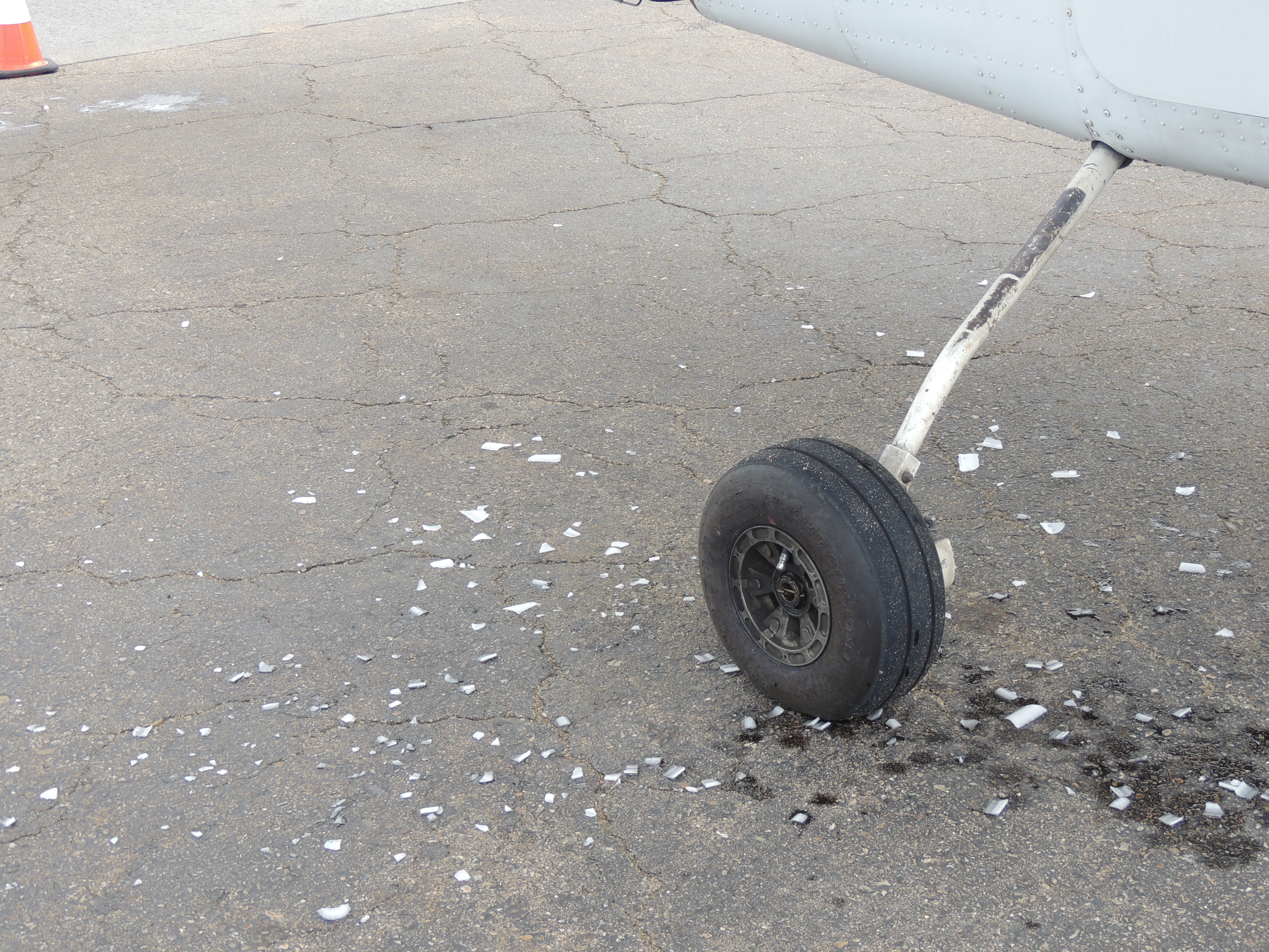 Ice that fell off our Airplane at Pittsburgh PA