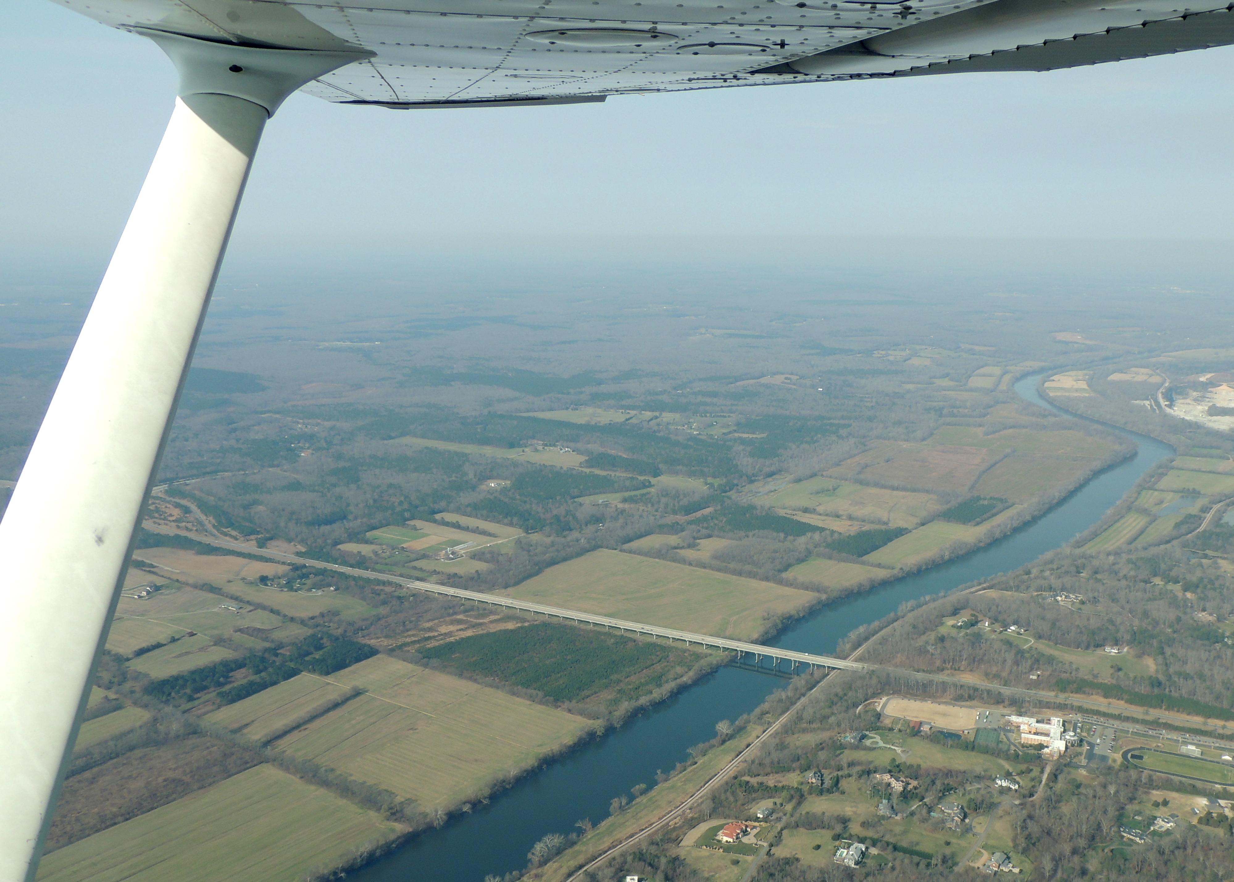 Over the James River near Richmond Va