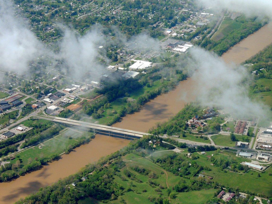 The New River around Dublin Virginia