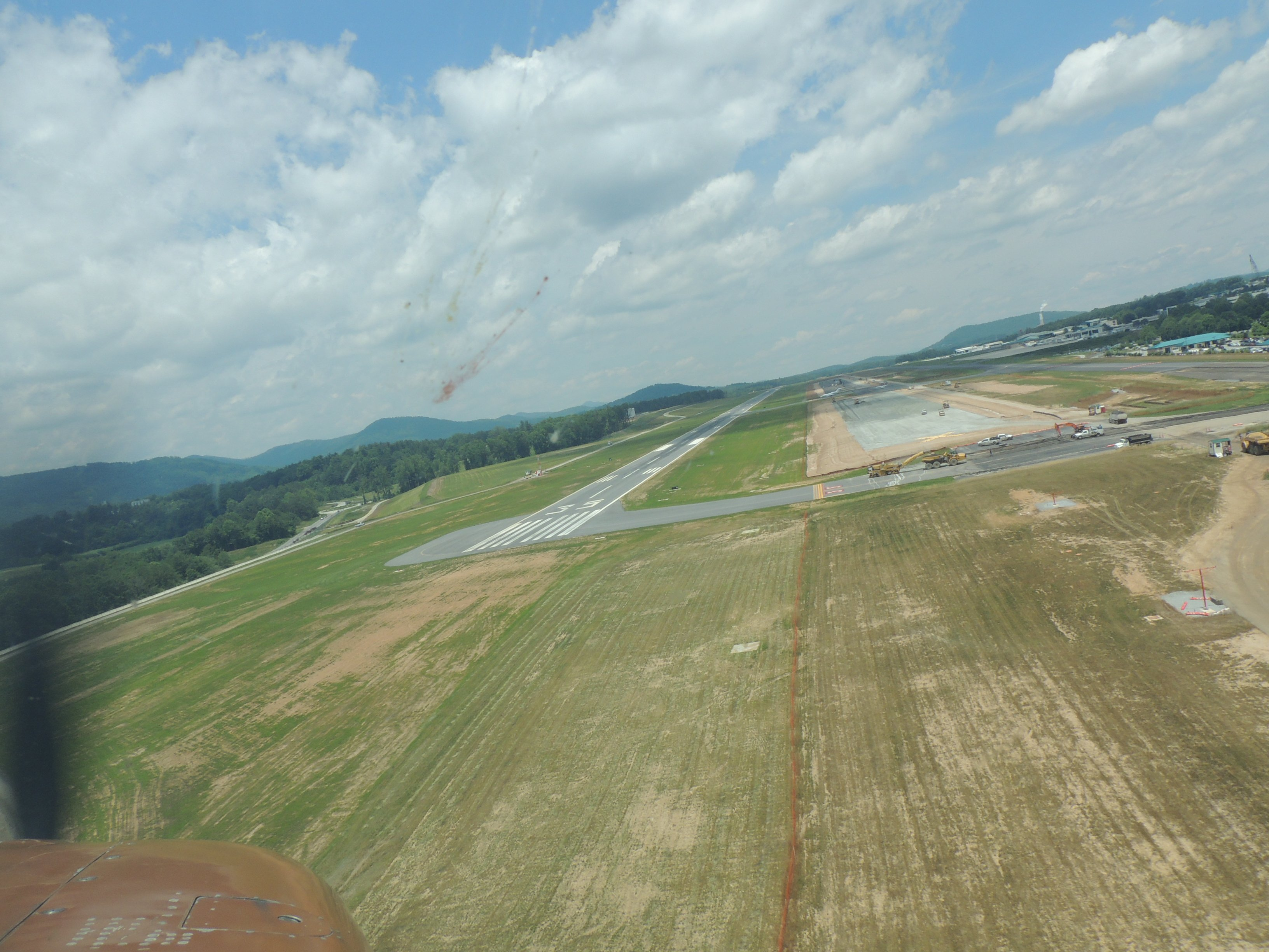 On short final at Asheville NC