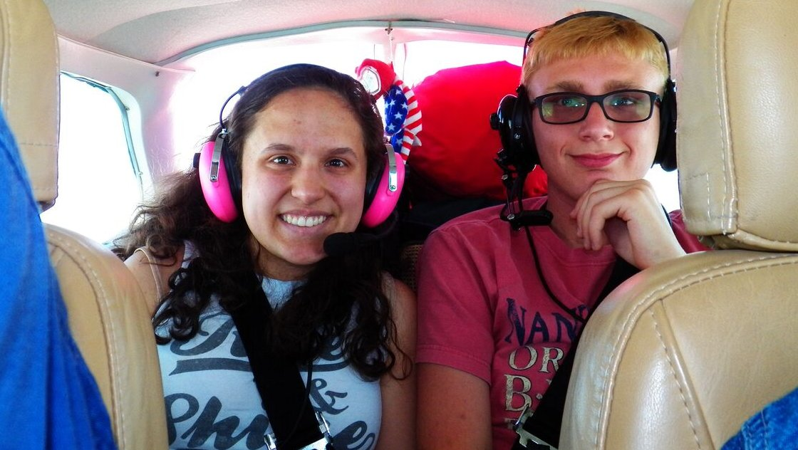 Aliza and Anthony on their way to Brainy Camp