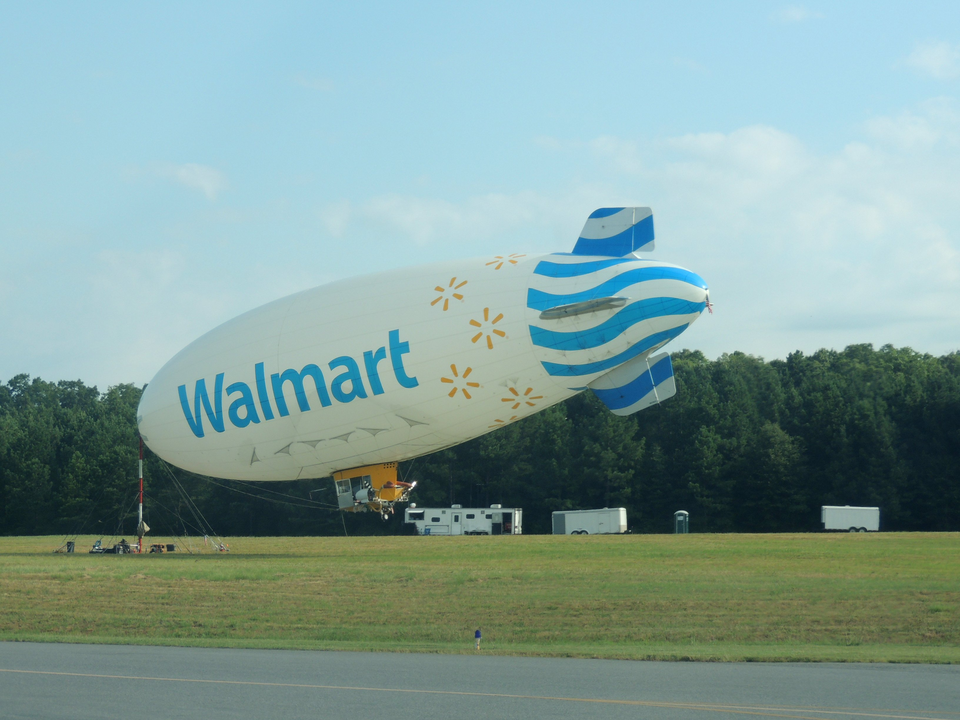 Blimp tied down at Chesterfield County, Richmond Virginia
