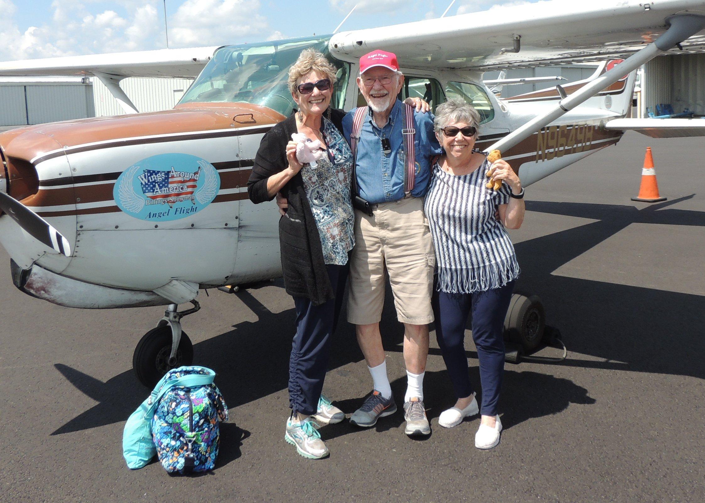 Captain John with Judie and Elaine at Greensboro NC