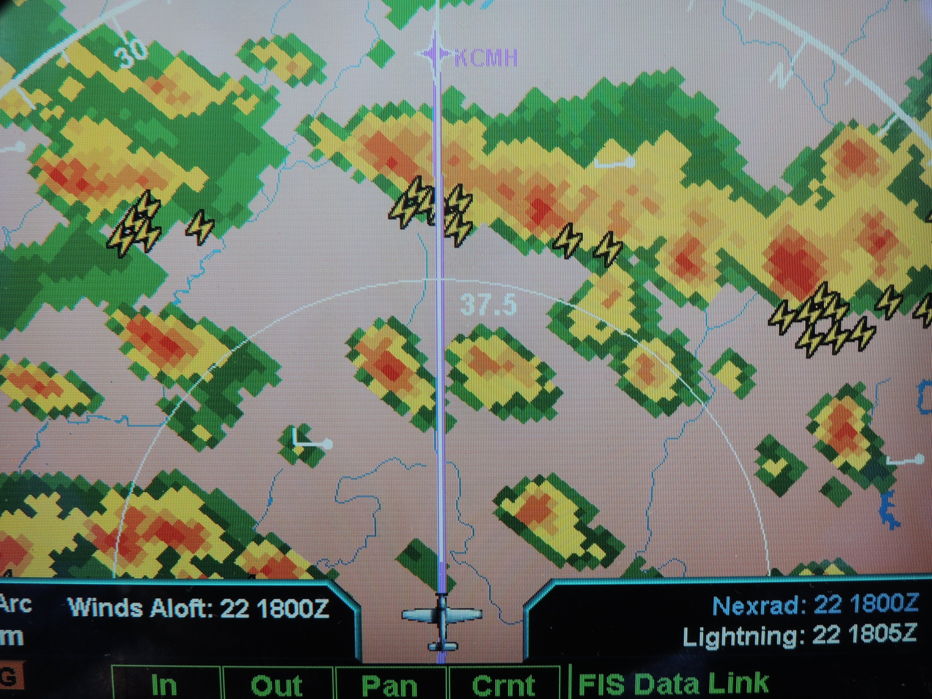 Flying thru a frontal system heading to Columbus Ohio