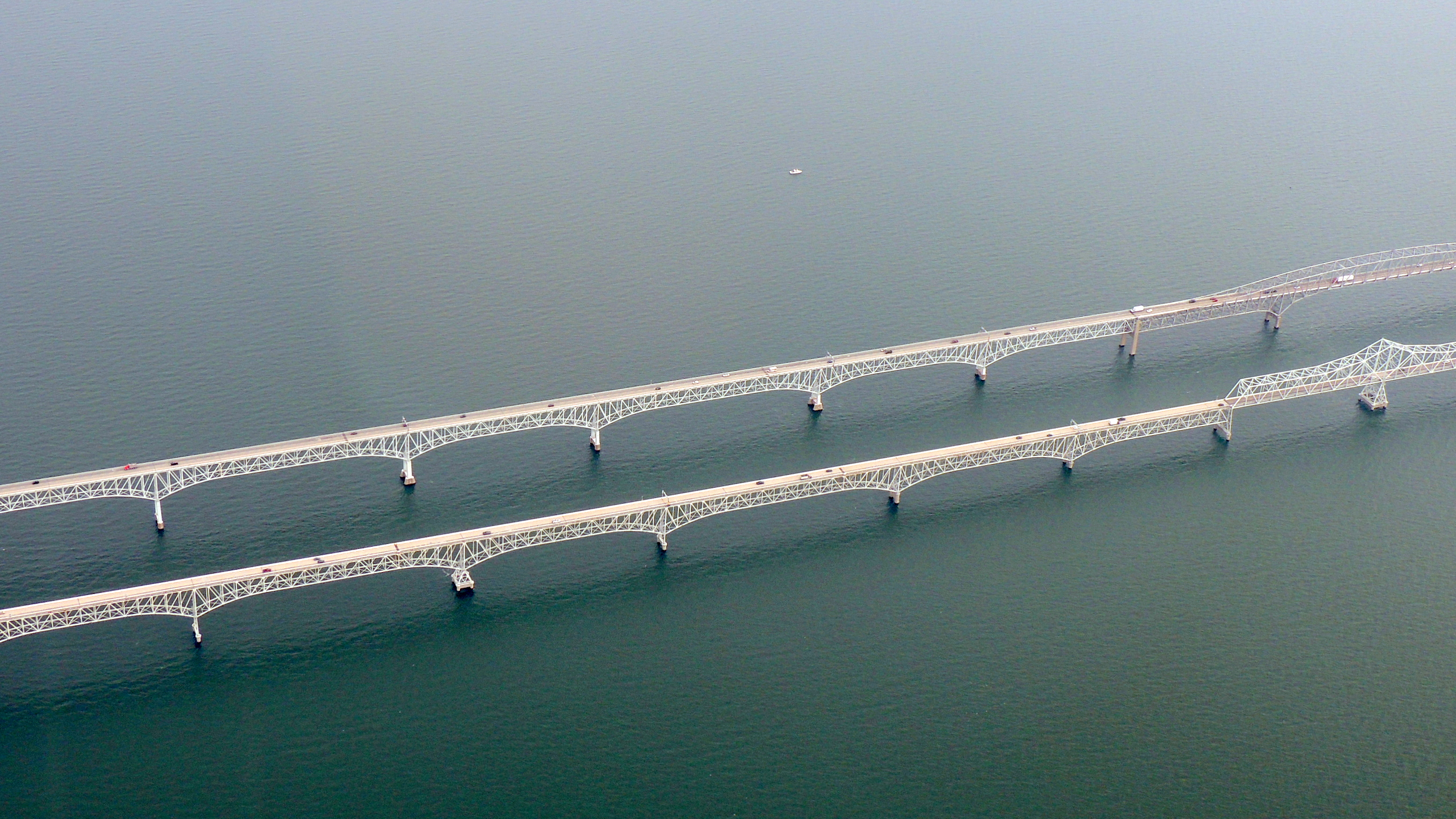 The Twin Bay Bridges over the Chesapeake
