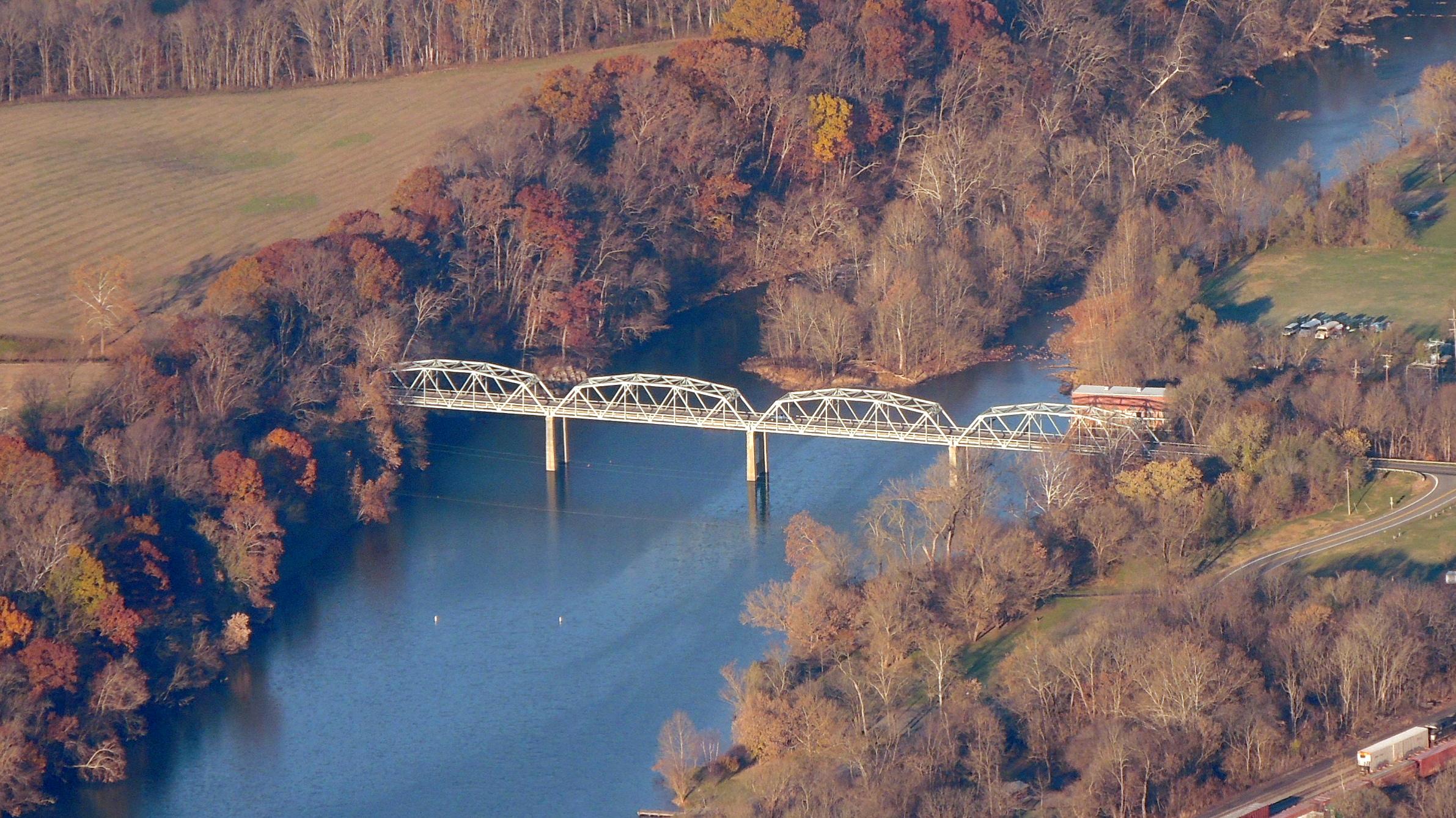 Old Steel Bridge still in use ....... Shenandoah Virginia