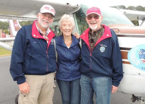 "With Captain Johns Sister  ""Barbara""  at Hilton Head Island"
