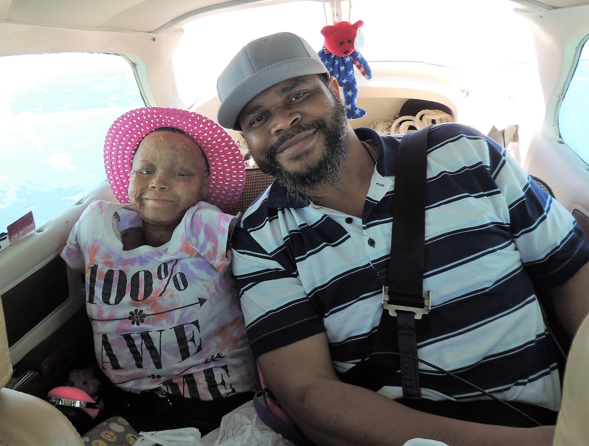 Kaylee and her Dad (Jermaine)  ...... on our way to New Jersey
