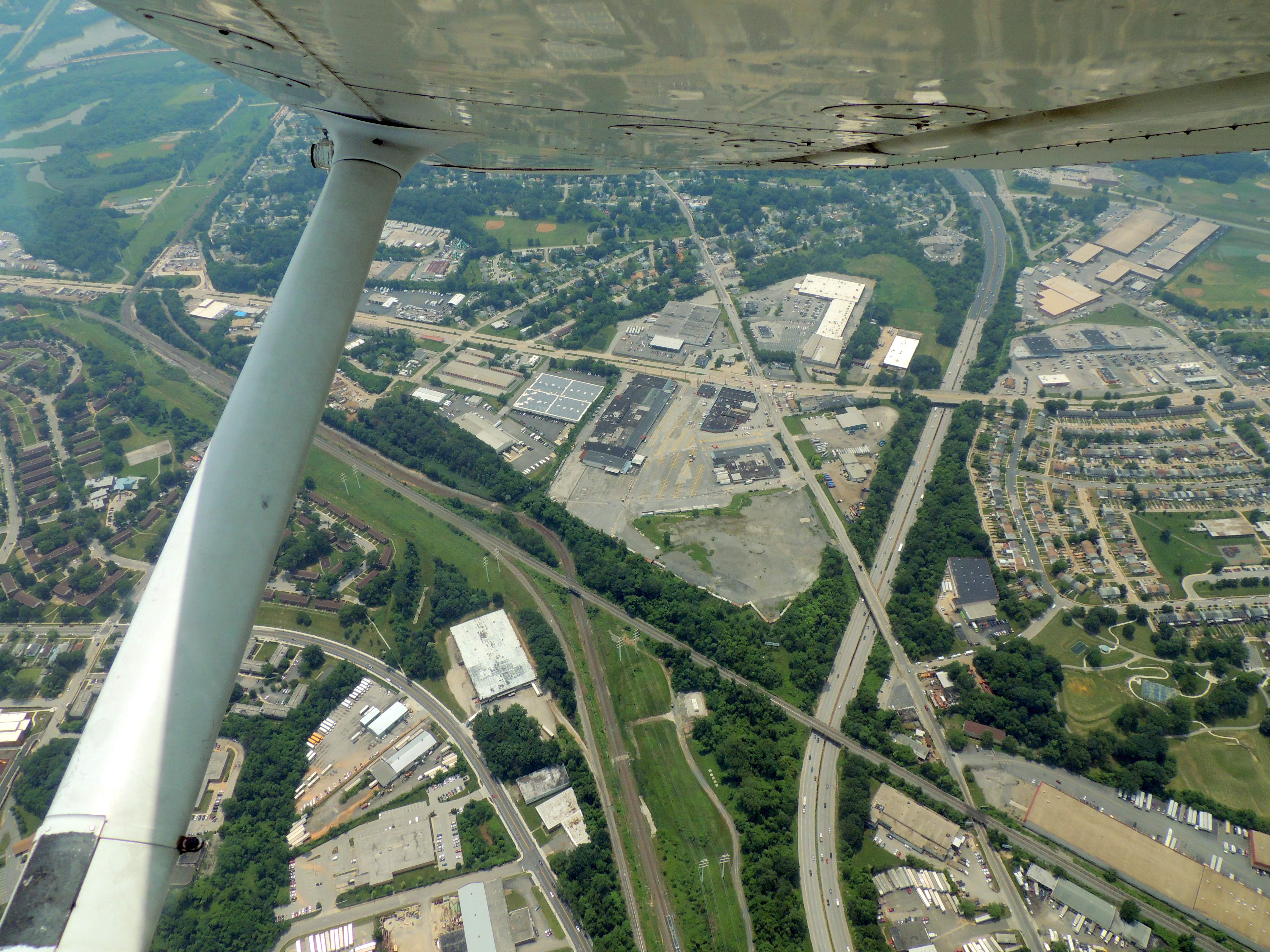 Circling over the Baltimore area while they have us climb to 5000 feet
