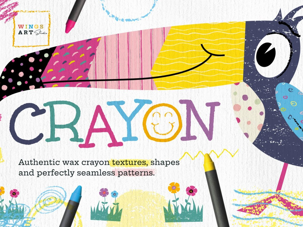 Wax Crayon Textures and Patterns by Christopher King