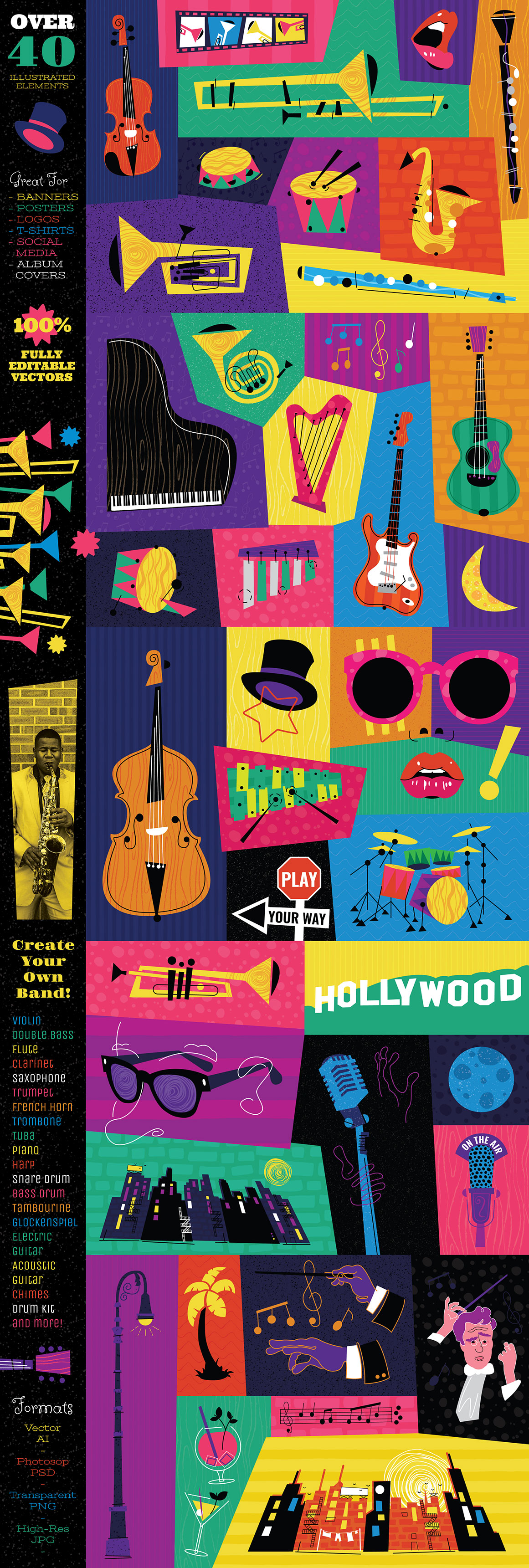 Music Themed Graphic and Templates