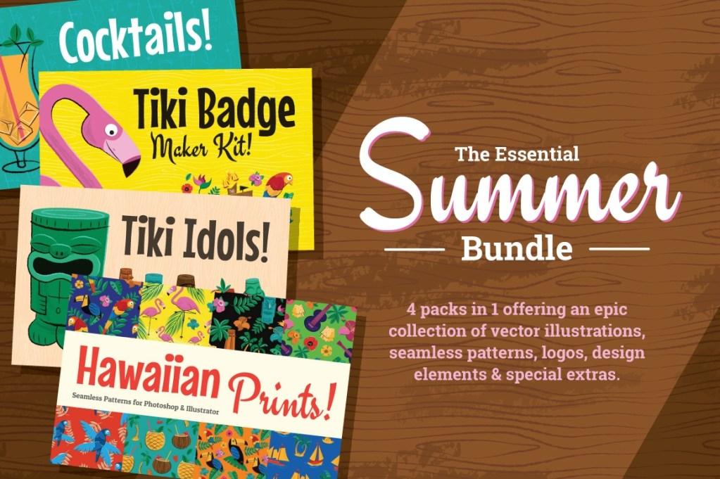 Hawaiian and Tiki Graphics Bundle