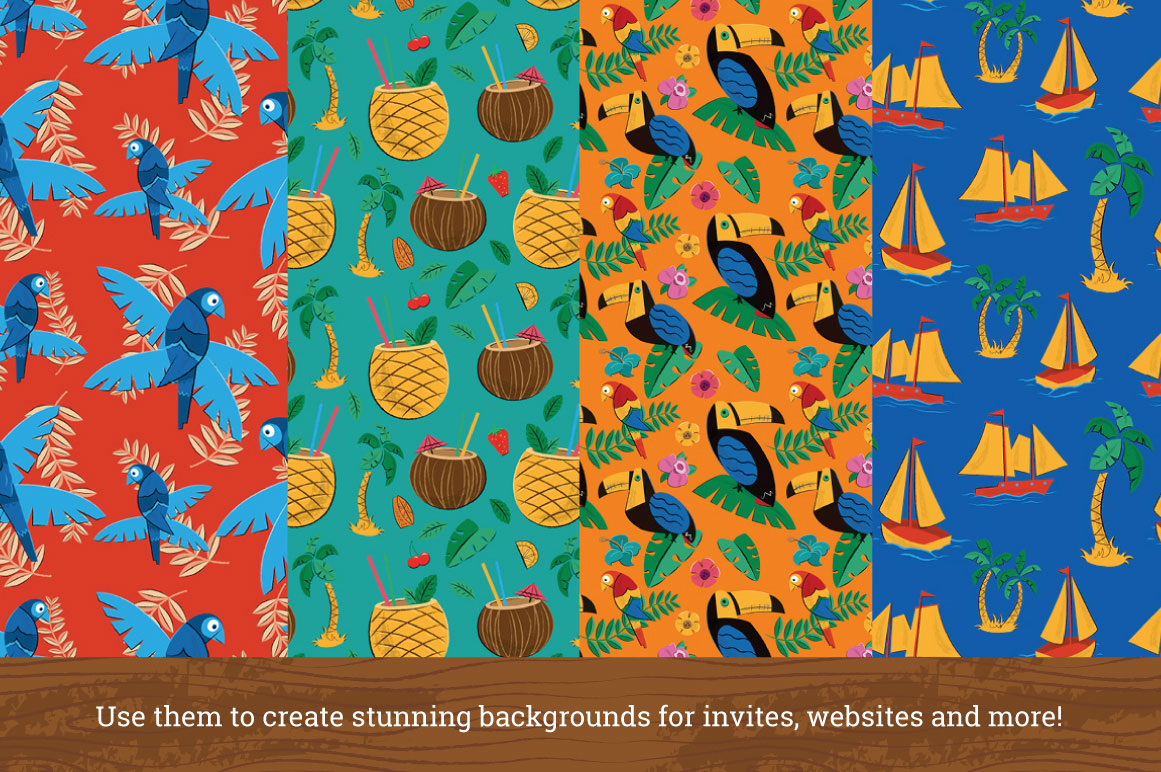 Hawaiian and tiki graphics