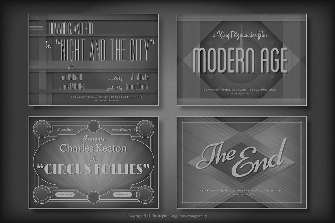 Vintage Movie Title Templates