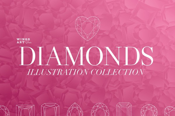 Diamonds Illustration Collection