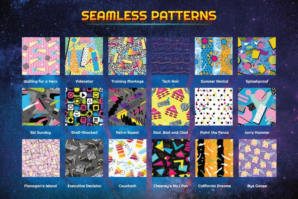 Download free 1980s patterns
