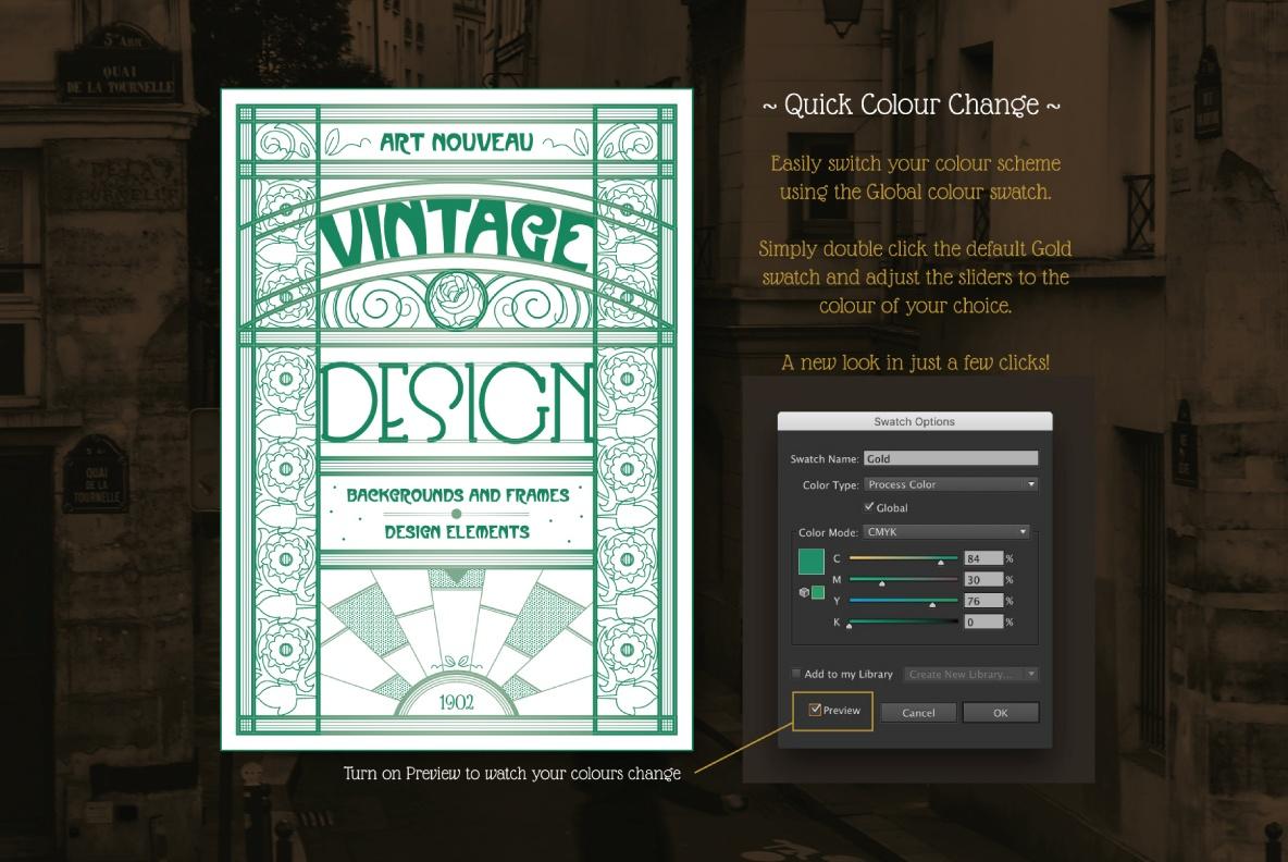 Art Nouveau Design Templates