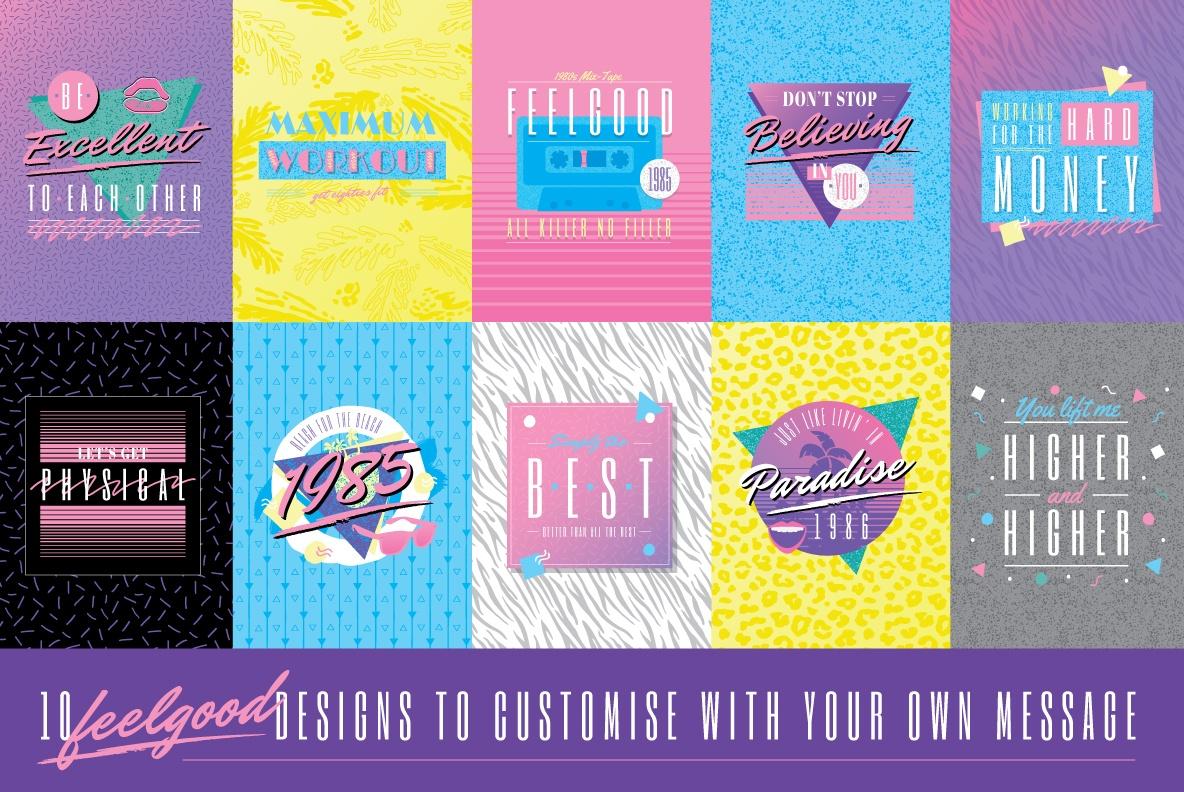 1980s Logo Design Templates