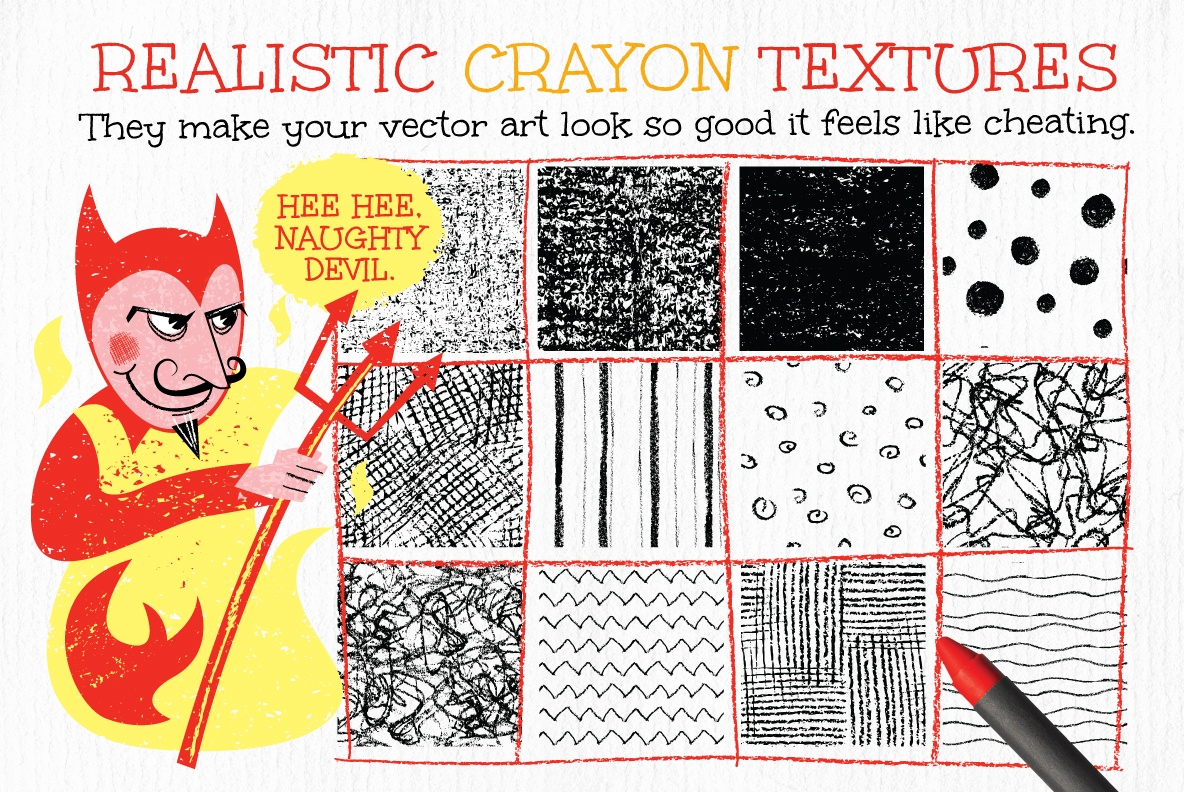 Wax Crayon Textures and Patterns