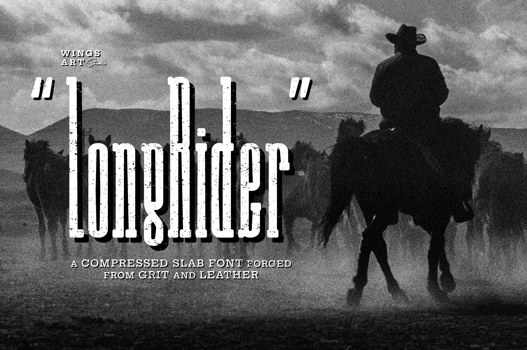 Long rider - The Cowboy Font_Cover