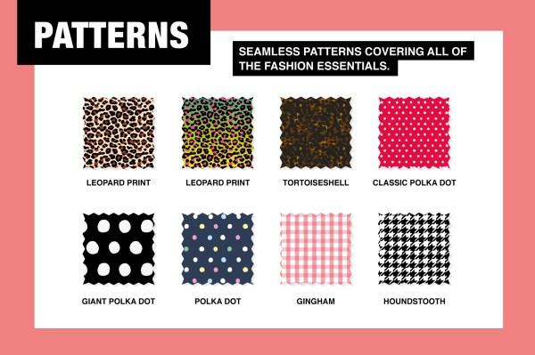 Seamless Fashion Pattern Swatches