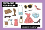 Fashion Props and Objects Illustration Collection