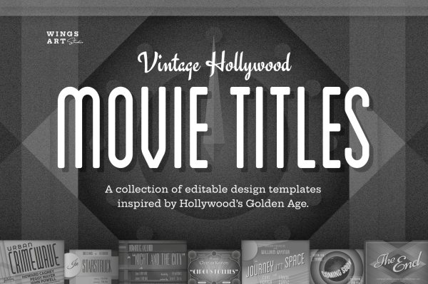 Vintage Hollywood Movie Title Templates