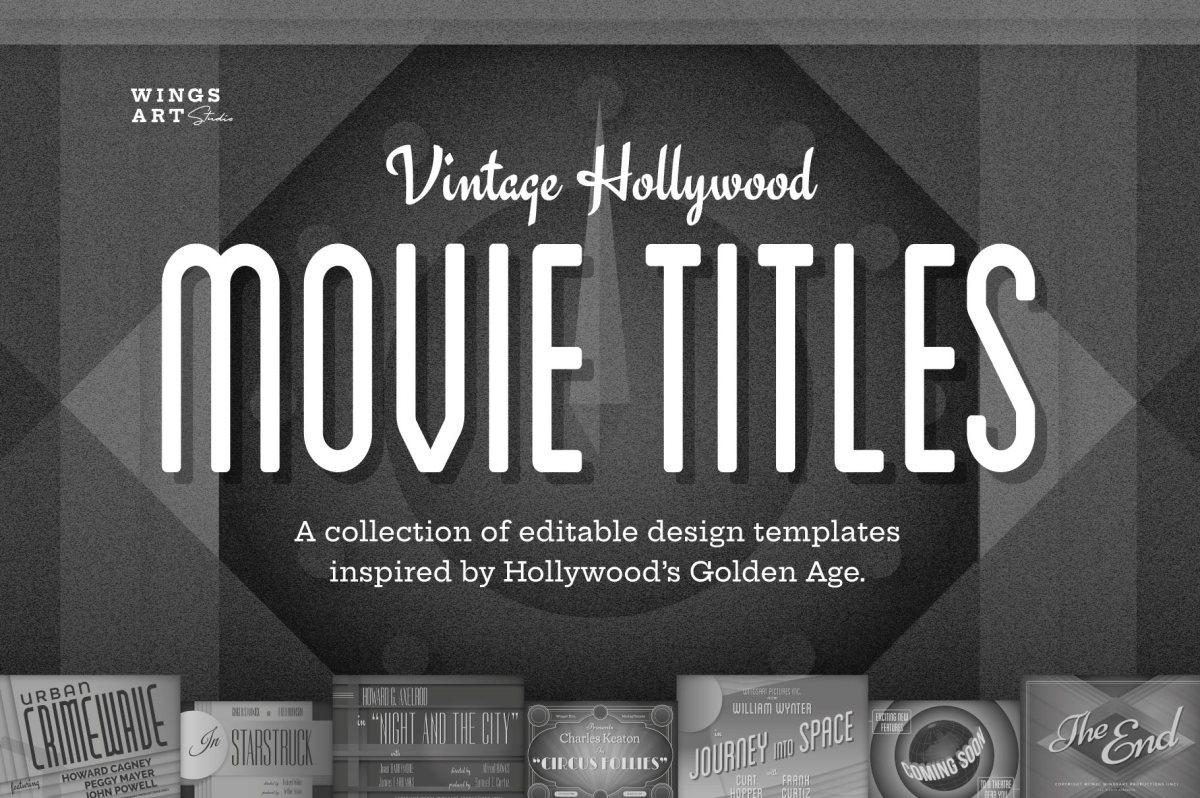 Vintage Hollywood Movie Title Templates