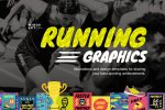 Running Graphics and Design Templates