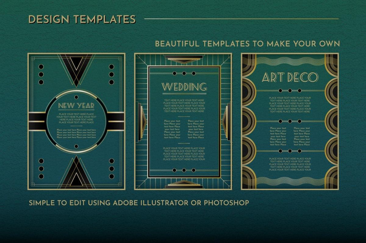 Art Deco Menu Templates