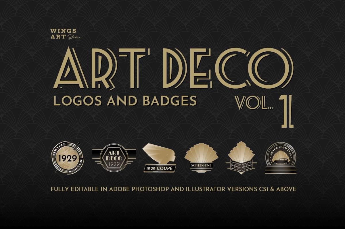 Art Deco Logo Templates Vol 1