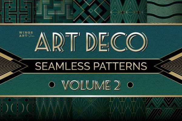 Art Deco Seamless Patterns Vol 2