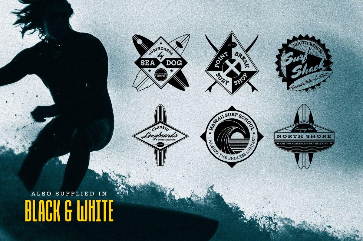 Surf Logo Design Templates