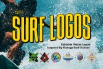 Surf Logo Design Templates for Photoshop