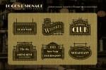 Vintage Boardwalk Logos Templates