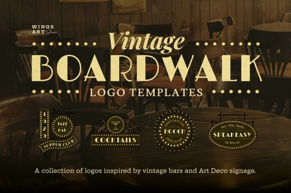 Vintage Boardwalk Logos Templates