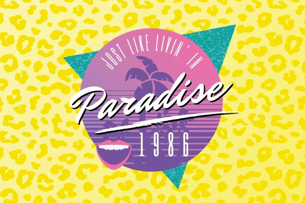 1980s Retro Logo Template