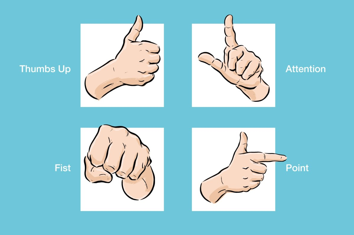 Free Illustrated Hand Poses - Vector Illustrations