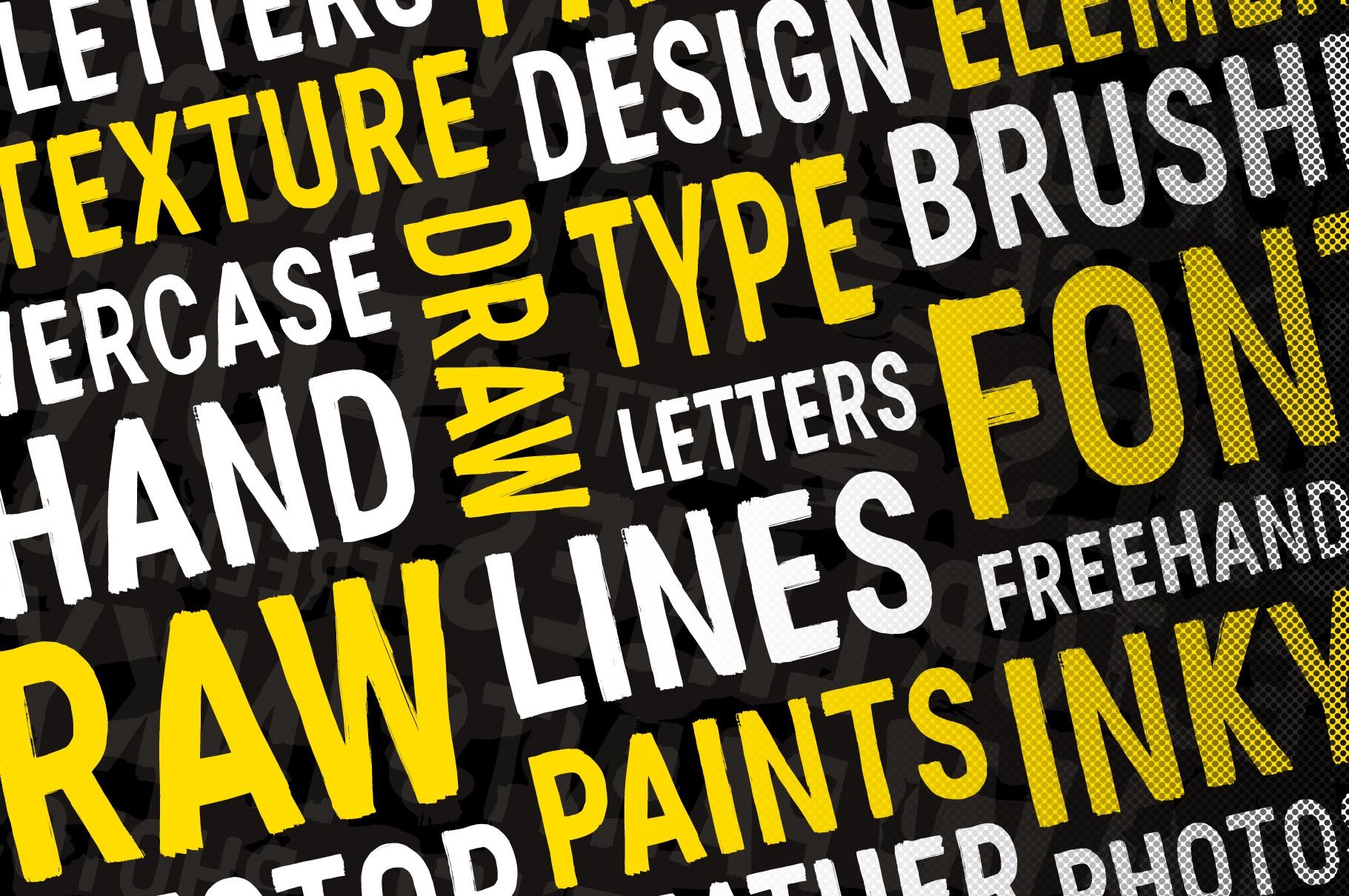 Hand-made textured brush font - Hand-made textured brush font