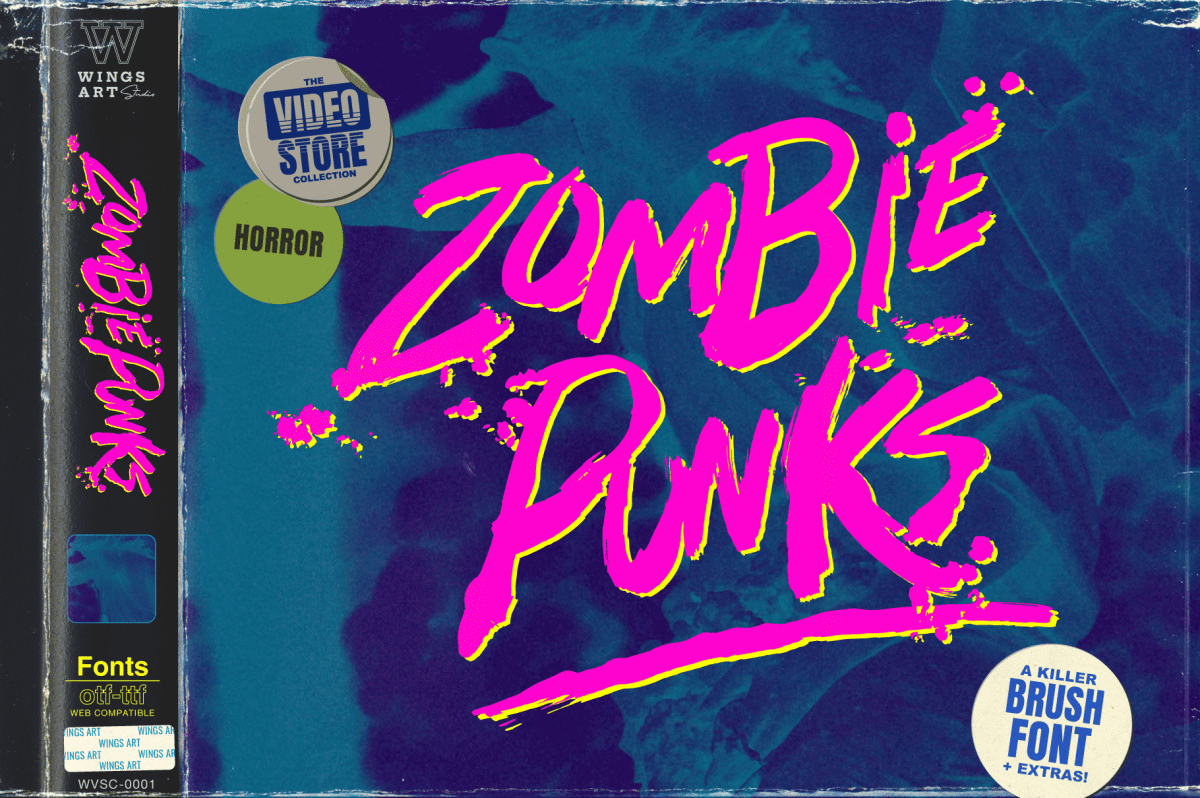 Zombie Punks - Wing's Art Studio