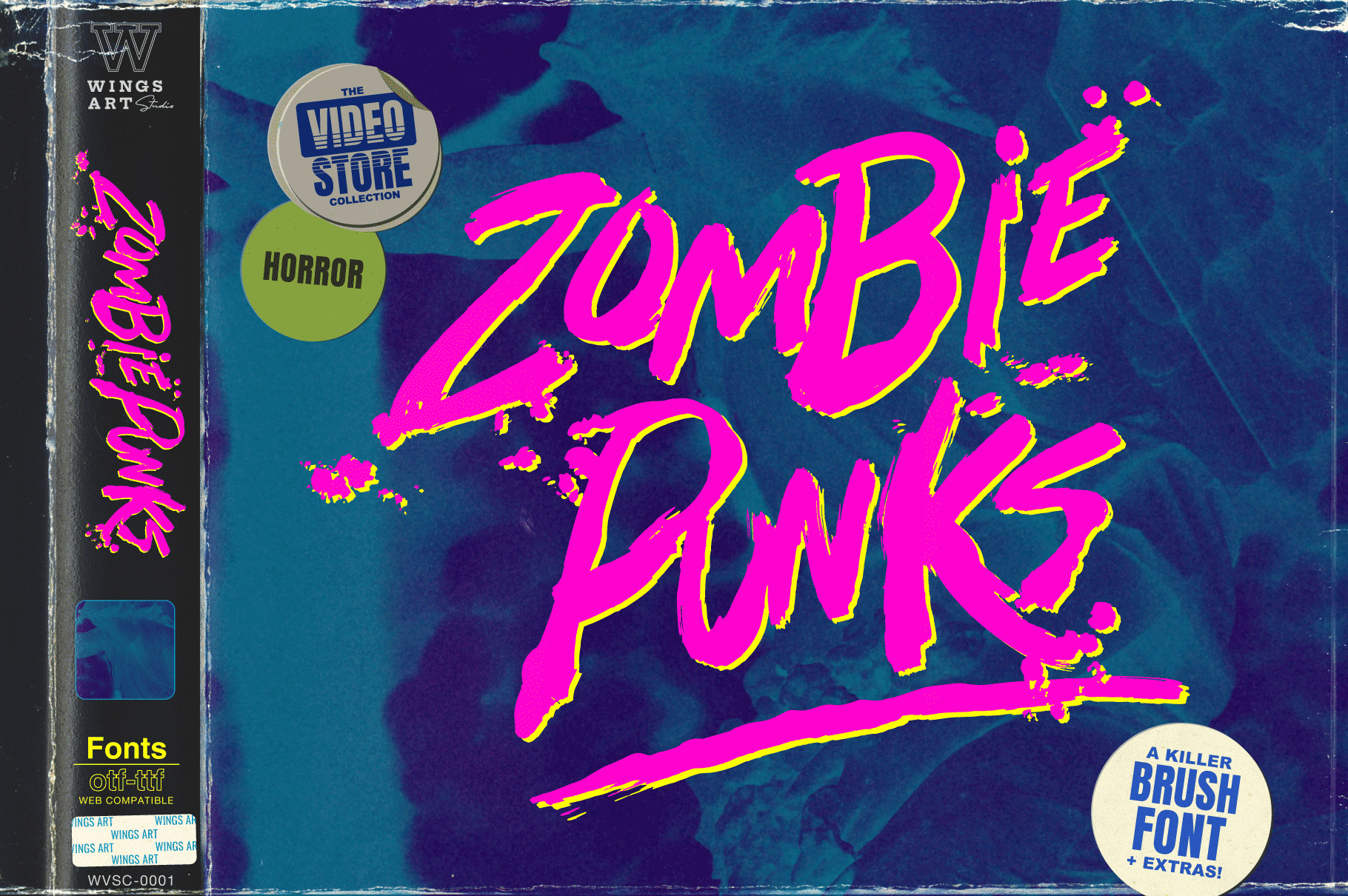 Zombie Punks - Wing's Art Studio