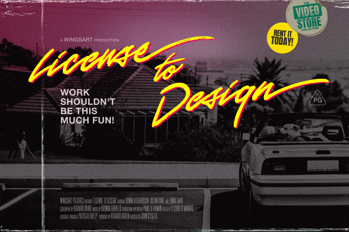 License to Design Movie Poster by Wing's Art Studio