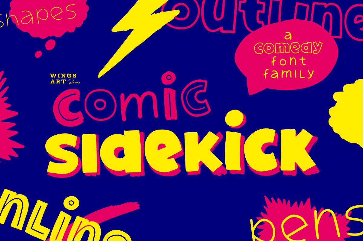A new Sans Comic Font Family