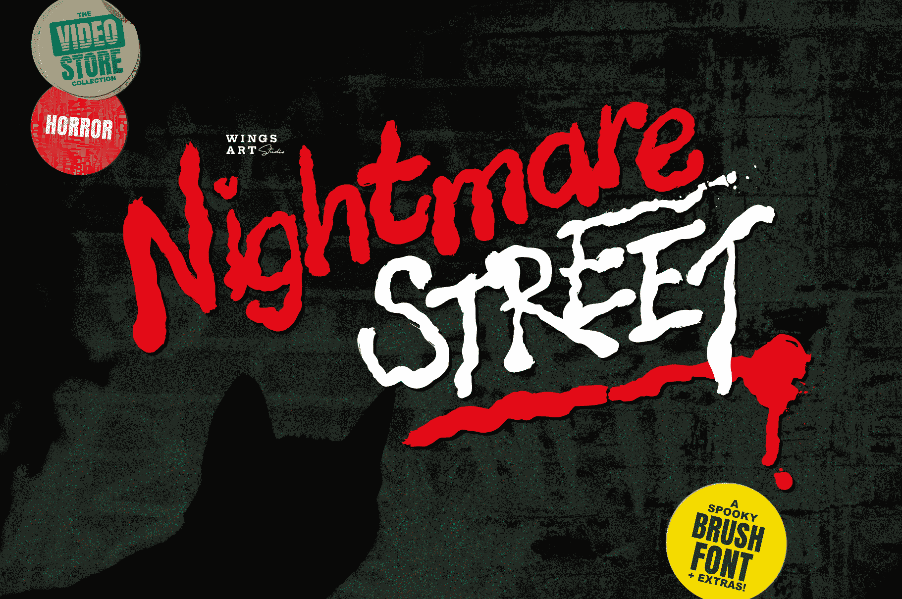 Nightmare Street - The Retro Halloween Font