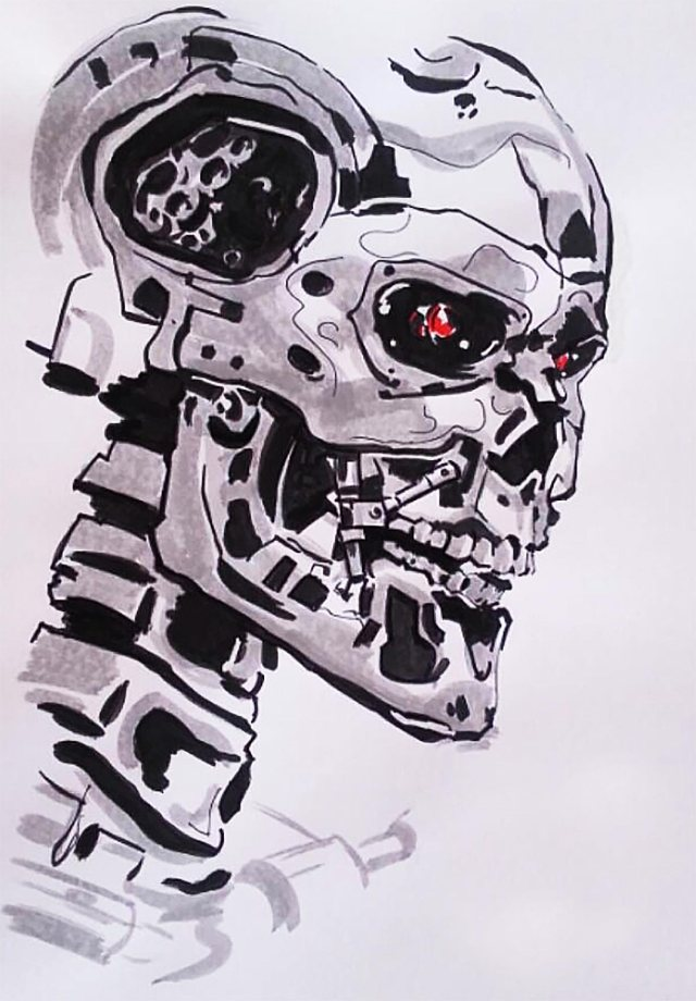The Terminator T800 (Digital Sketch)