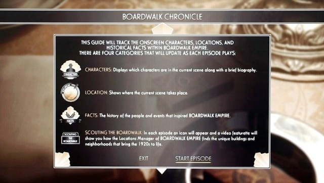 Boardwalk Empire Blu Ray Menu Design