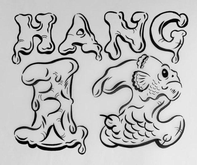 Hang 12 Surf Art