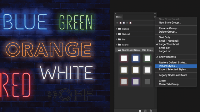 Neon Effects for Adobe Photoshop