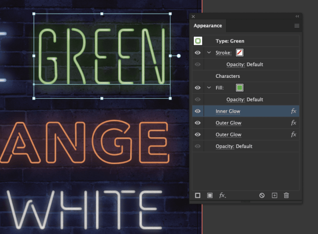 Create realistic neon lettering in Illustrator